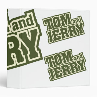 Tom and Jerry Logo 3 3 Ring Binder