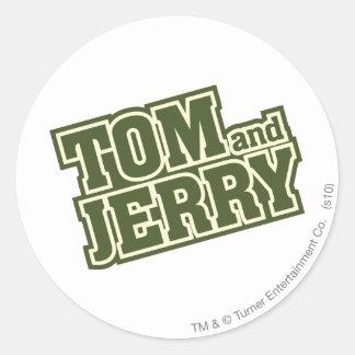 Tom and Jerry Logo 3 Classic Round Sticker