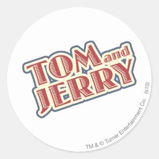 Tom and Jerry Logo Classic Round Sticker