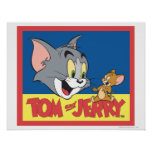 Tom And Jerry Logo Flat Print