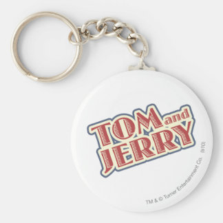 Tom and Jerry Logo Basic Round Button Keychain