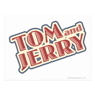 Tom and Jerry Logo Postcard