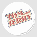 Tom and Jerry Logo Round Sticker