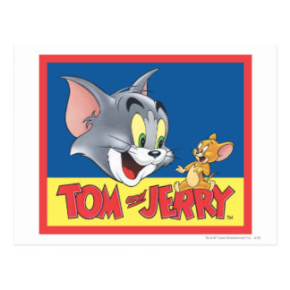 Tom And Jerry Logo Shaded Postcard