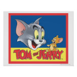 Tom And Jerry Logo Shaded Poster