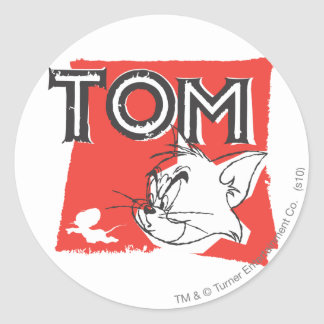 Tom and Jerry Mad Cat Classic Round Sticker