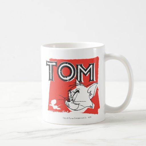 Tom and Jerry Mad Cat Classic White Coffee Mug