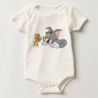 Tom and Jerry Make Faces Baby Bodysuits