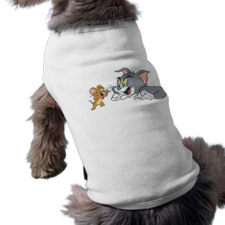 Tom and Jerry Make Faces Doggie Tshirt