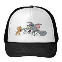Tom and Jerry Make Faces Trucker Hat