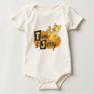 Tom and Jerry Mouse In Paw Logo Bodysuit
