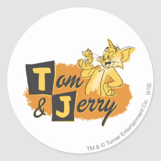 Tom and Jerry Mouse In Paw Logo Classic Round Sticker