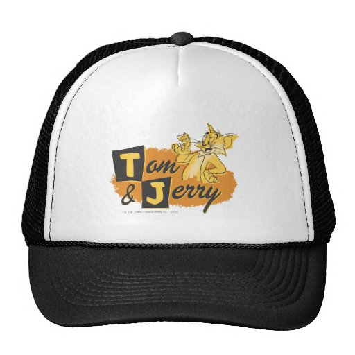 Tom and Jerry Mouse In Paw Logo Trucker Hat
