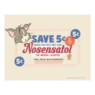 Tom And Jerry Nosensatol Coupon Postcard