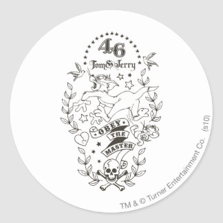 Tom and Jerry Obey The Master 1 Classic Round Sticker