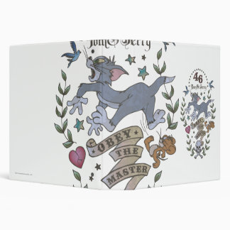 Tom and Jerry Obey The Master 2 3 Ring Binder