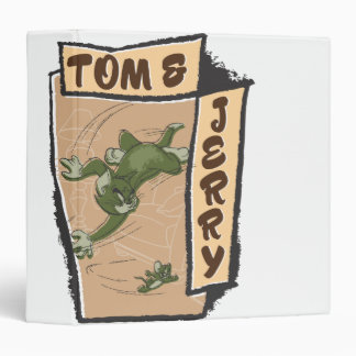 Tom and Jerry On A Tan Couch 3 Ring Binder