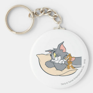 Tom and Jerry On Pillow Keychain