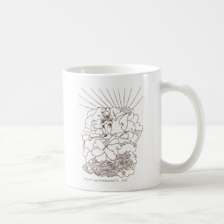 Tom and Jerry Outline Coffee Mug