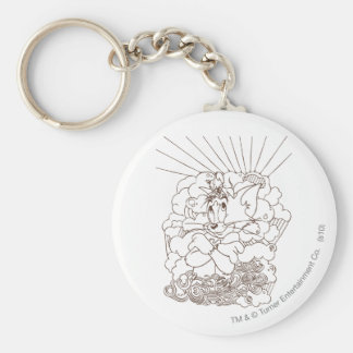 Tom and Jerry Outline Keychain
