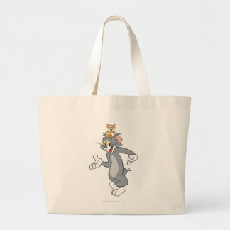 Tom and Jerry Pair Large Tote Bag