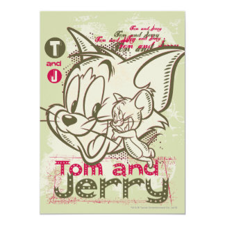 Tom and Jerry Pink and Green Card