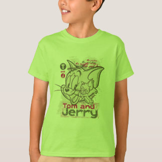 Tom and Jerry Pink and Green T-Shirt