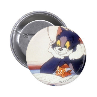 Tom And Jerry Read a Book 2 Inch Round Button