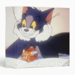 Tom And Jerry Read a Book 3 Ring Binders