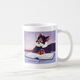 Tom And Jerry Reading Book Autographed Coffee Mug