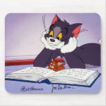 Tom And Jerry Reading Book Autographed Mousepad