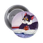 Tom And Jerry Reading Book Autographed Pinback Button