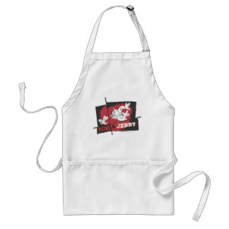 Tom and Jerry Red and Black Adult Apron