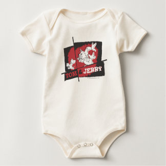 Tom and Jerry Red and Black Bodysuit