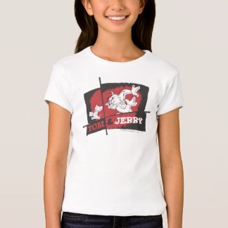 Tom and Jerry Red and Black T-Shirt