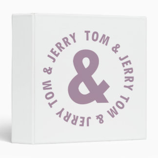 Tom and Jerry Round Logo 10 Binder