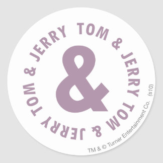 Tom and Jerry Round Logo 10 Classic Round Sticker