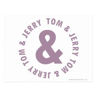 Tom and Jerry Round Logo 10 Postcard