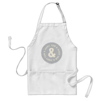 Tom and Jerry Round Logo 1 Adult Apron