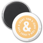 Tom and Jerry Round Logo 5 magnets