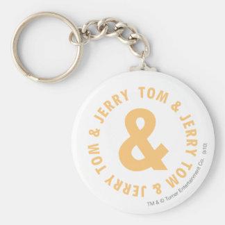 Tom and Jerry Round Logo 6 Keychain