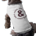Tom and Jerry Round Logo 8 pet clothing