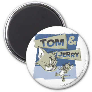 Tom and Jerry Scaredey Mouse 2 Inch Round Magnet
