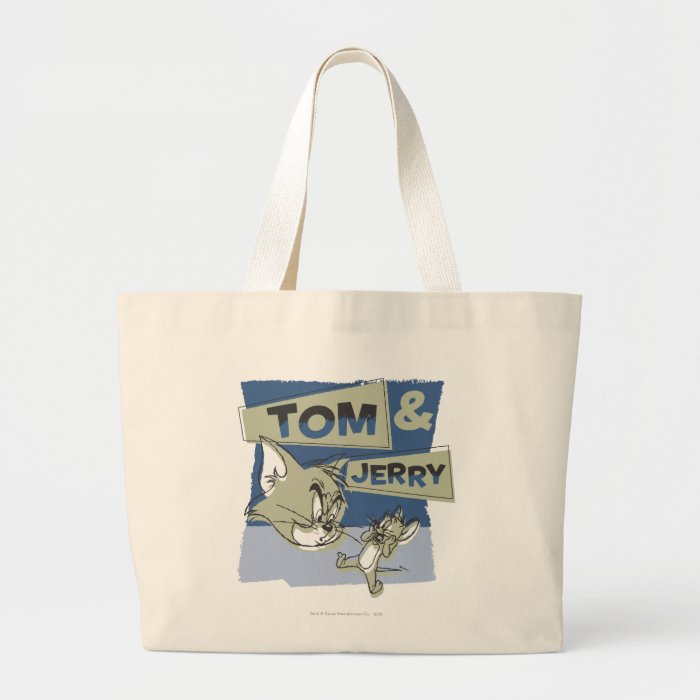Tom and Jerry Scaredey Mouse Large Tote Bag