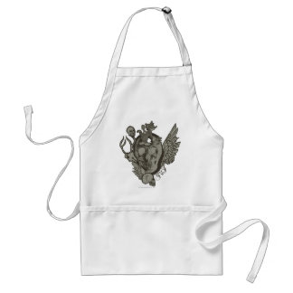 Tom and Jerry Skull Adult Apron