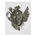 Tom and Jerry Skull Print