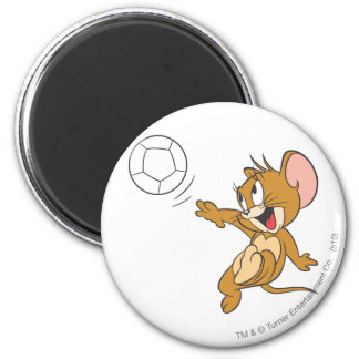Tom and Jerry Soccer (Football) 1 2 Inch Round Magnet
