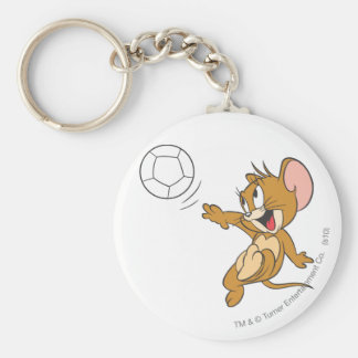 Tom and Jerry Soccer (Football) 1 Basic Round Button Keychain