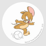 Tom and Jerry Soccer (Football) 2 Round Stickers