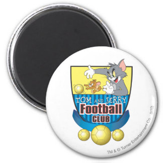 Tom and Jerry Soccer (Football) 5 2 Inch Round Magnet